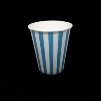 Papírpohár Kék csíkos 2.5 dl 8 db/cs