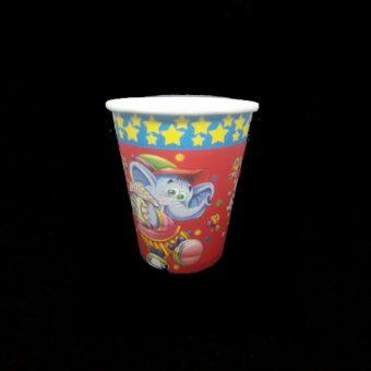 Papírpohár Elephant with Popcorn 2.5 dl 8 db/cs