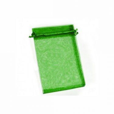 Organza zsák sötétzöld kicsi 5 db/cs