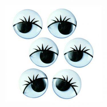Pillás mozgó szem 15 mm 100 db/cs