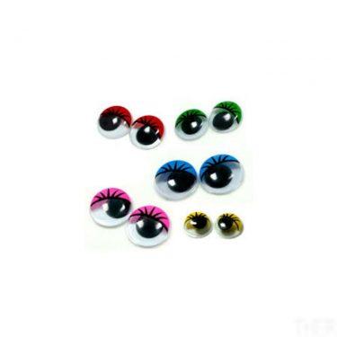 Mozgó szem színes 10 mm 100 db/cs
