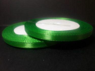 Szatén szalag, Fűzöld 6 mm / 23 m