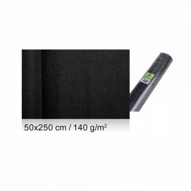 Vastag krepp-papír Fekete 50x250 cm