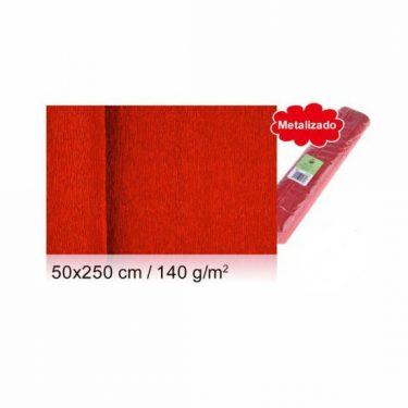 Vastag krepp-papír Metálpiros 50x250 cm