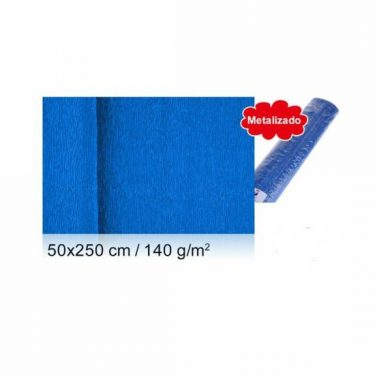 Vastag krepp-papír Kék 50x250 cm