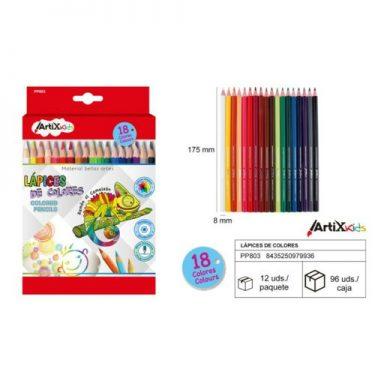Artix színesceruza készlet 18 db/cs