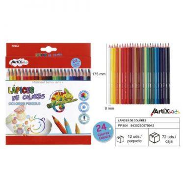 Artix színes ceruza készlet 24 db/cs