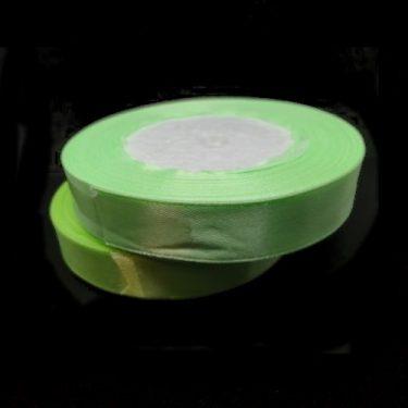 Szatén szalag, Neonzöld 15 mm / 20 m