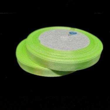 Szatén szalag, Neonzöld 10 mm / 20 m