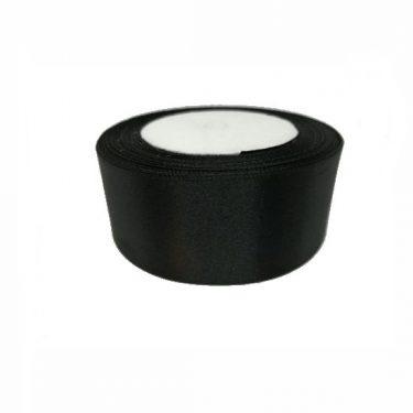 Szatén szalag, Fekete 40 mm / 10 m