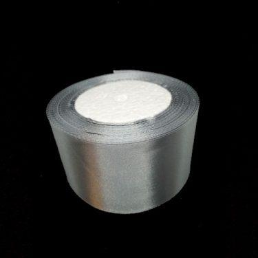 Szatén szalag, Ezüst 50 mm / 22 m