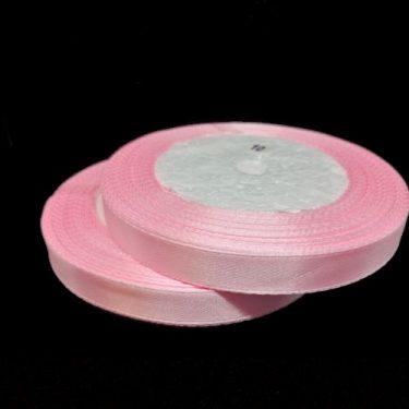 Szatén szalag, Rózsaszín 10 mm / 20 m