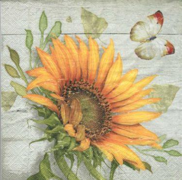 Dekorszalvéta - Vintage Sunflower
