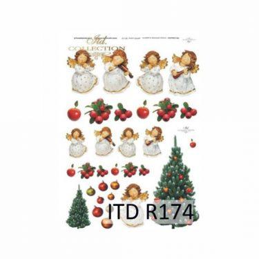 Karácsonyi rizspapír 174