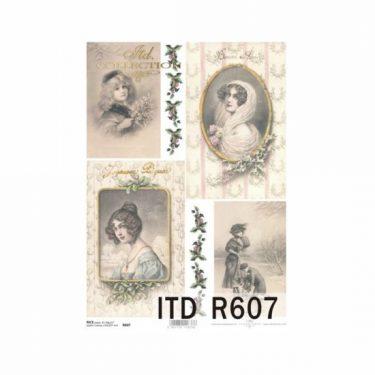Karácsonyi rizspapír 607
