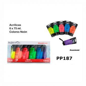 MP Neon akrilfesték készlet 6x75 ml
