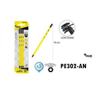 Grafitceruza készlet Sárga HB 3 db/cs
