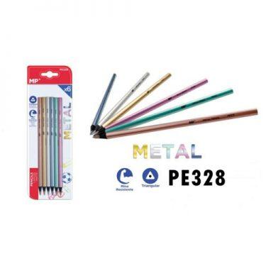 MP Metál színű színes ceruza készlet 6 db/cs