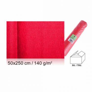 Vastag krepp-papír Piros 50x250 cm