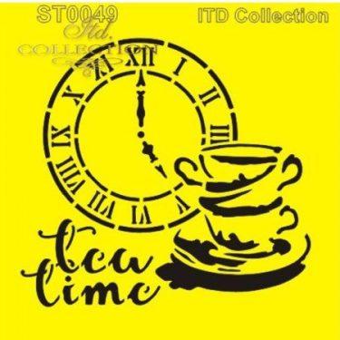 ITD Stencil Tea Time 2. 16x16 cm