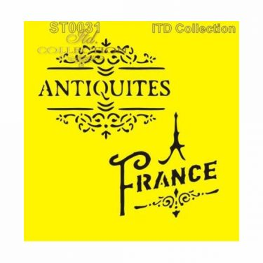 ITD Stencil France 16x16 cm