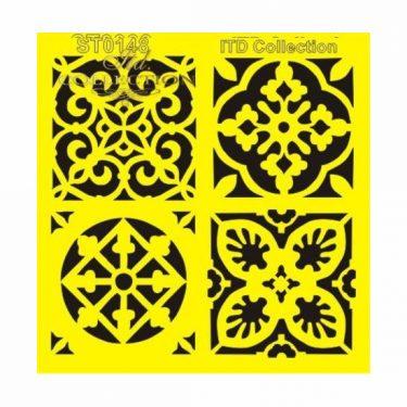 ITD Stencil Csempeminták 16x16 cm