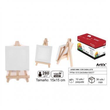 Artix Mini vászontábla állvánnyal 15x15 cm