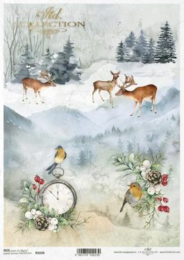 Karácsonyi rizspapír R1638