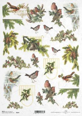 Karácsonyi rizspapír R604