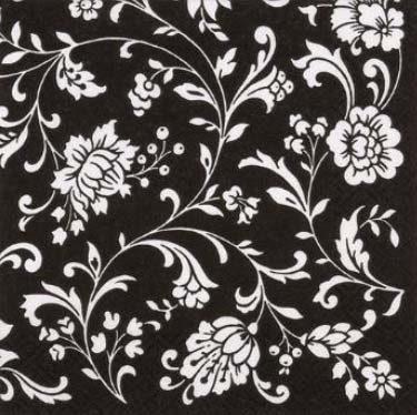 Dekorszalvéta - Arabesque Black Black-White