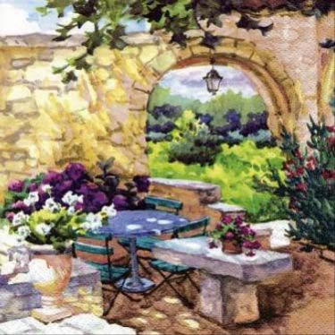 Dekorszalvéta - Patio Morning in Provence