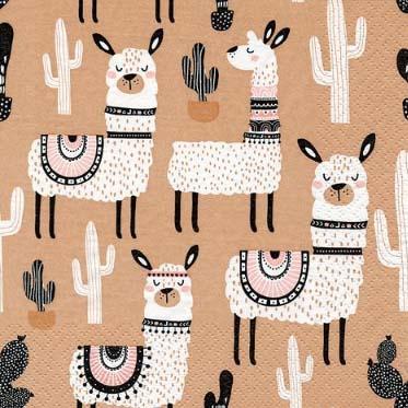 Dekorszalvéta - Llama & Friends