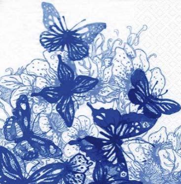 Dekorszalvéta - Amazing Butterflies Blue