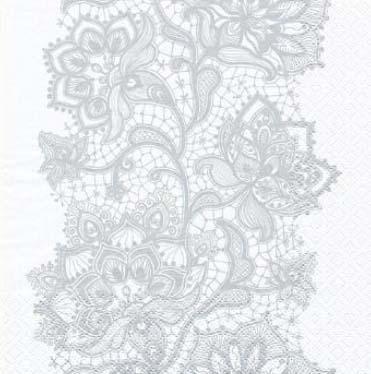 Dekorszalvéta - Lace Pattern Silver