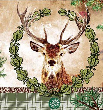 Dekorszalvéta - Deer Portrait