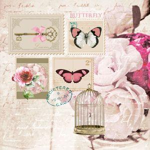 Dekorszalvéta - Butterfly Stamp