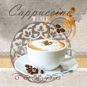 Dekorszalvéta - Cappuccino Time