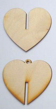 3D összerakható fafigura Szív