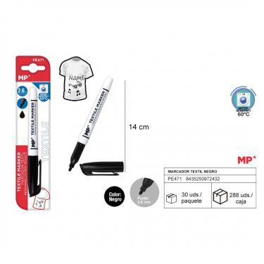 MP Textilfilc Fekete 2.6 mm