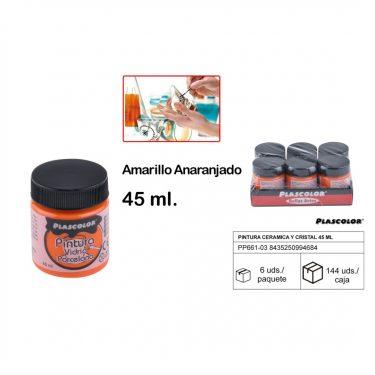 Plascolor Porcelánfesték Narancssárga 45 ml
