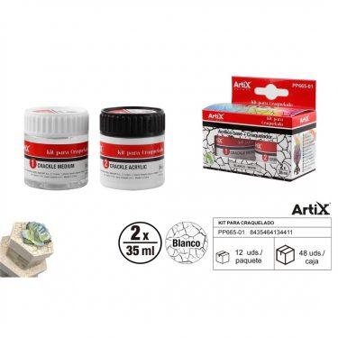 Artix Repesztőlakk készlet Fehér 2x35 ml