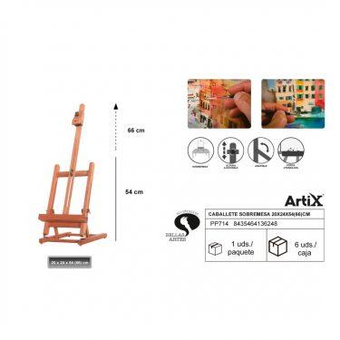 Artix Festőállvány 20x24x54(66) cm