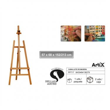 Artix Festőállvány 56x68x152/213 cm