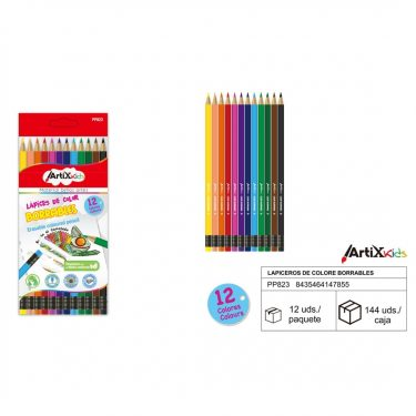 Artix Radírozható színes ceruza készlet 12 db/cs