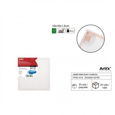 Artix Vászontábla 16x16x1.5 cm