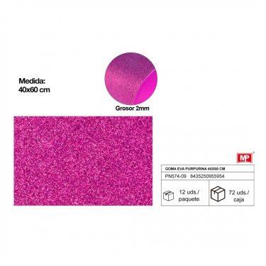 Csillámos dekorgumi Violet 40x60 cm