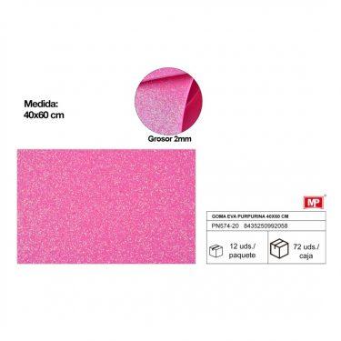 Csillámos dekorgumi Rózsaszín 40x60 cm