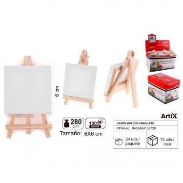 Artix Mini vászontábla állvánnyal 6x6 cm