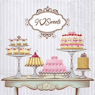 Dekorszalvéta - Patisserie I Love Sweets