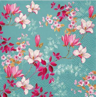 Dekorszalvéta - Magnolia Blue